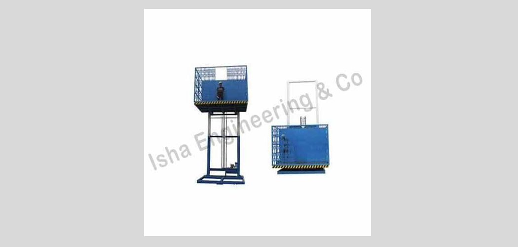 Goods Lift with Collapsible Gate